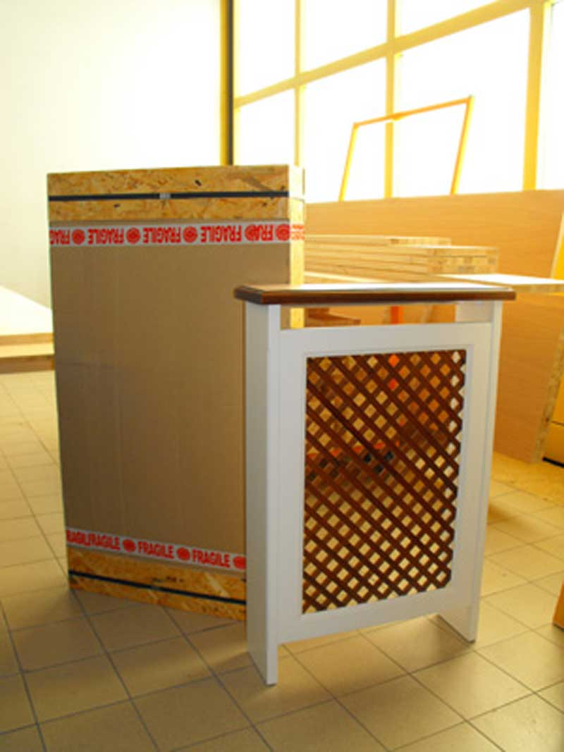 Copritermosifone marsiglia su misura consegna gratuita for Hobby del legno